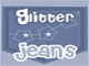 Glitter Jeans Star Pocket