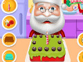 Santa Cooking Red Velvet Cake