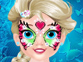 Baby Elsa Butterfly Face Art